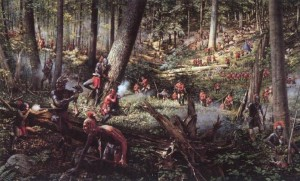 A painting of the French and Indian War