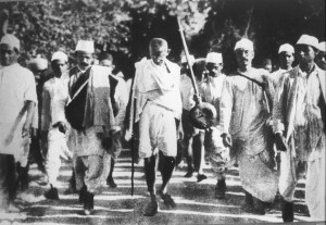 Gandhi's famous salt protest march!