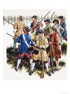 The colonist military forces were often composed of militiamen.
