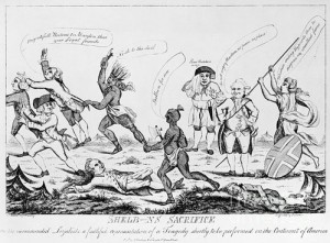 A political cartoon of the Loyalists during 1783.
