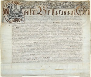 The original copy of the Massachusetts Charter.