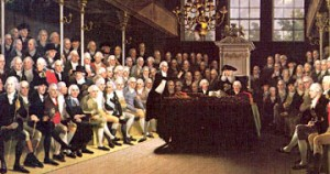 British Parliament in the 1770s.