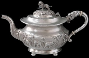 A colonial teapot! Many Bostonians would have had teapots like this.